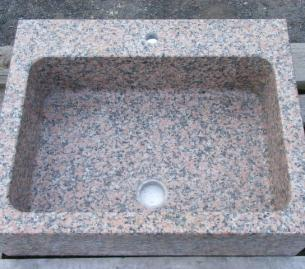 eviers massifs en granit rose d'Espagne
