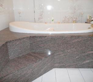 granit ROSE DALVA du Brésil à ISSANCOURT et RUMEL (Ardennes)