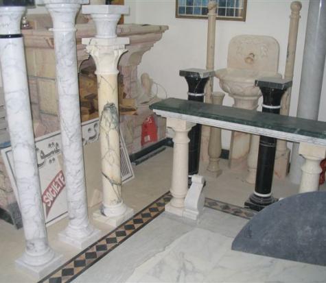colonnes marbre et granit